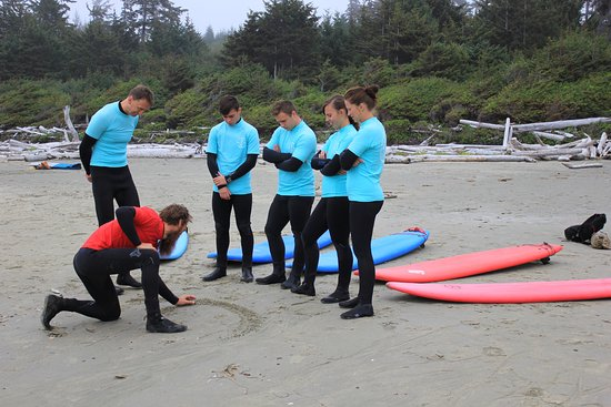 Ucluelet, Canadá: learning about the surf
