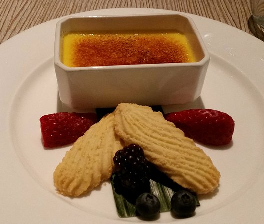 Slough, UK: Creme Brulee - with hints of saffron, cardamon and ginger.