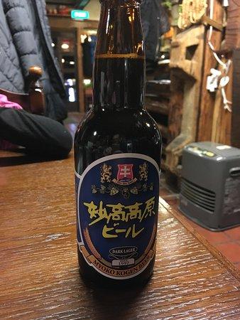 Myoko, Giappone: Local beer at Hunter