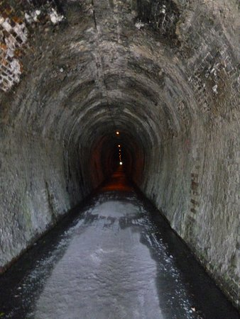 Waihi, New Zealand: The long Tunnel - over 1 km - torch good here - cyclists also