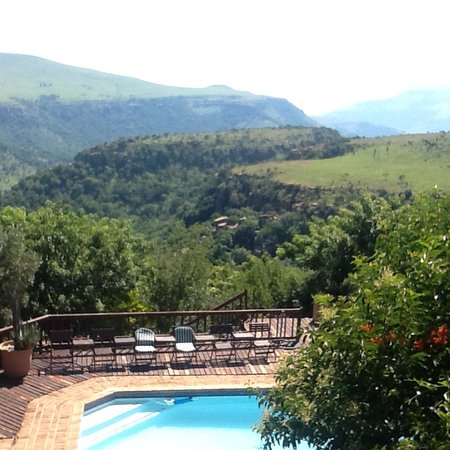 Waterval Boven, Güney Afrika: View from balcony where breakfast served
