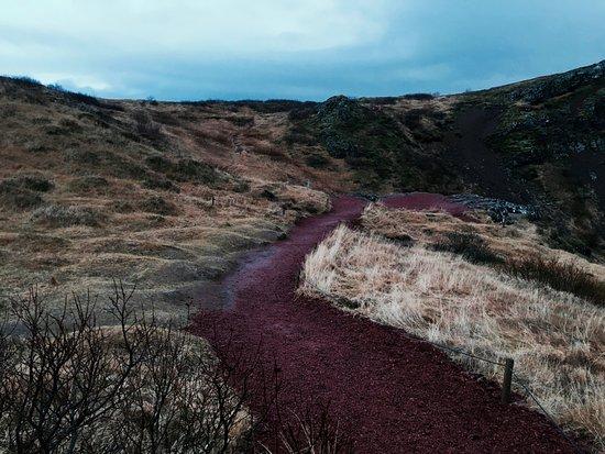Selfoss, Islandia: Way down to the lake