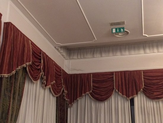 Hotel Terme Internazionale: ragnatela lunga circa 60 cm presente durante tutto il nostro soggiorno !