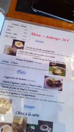 Villar-d'Arene, France: menu
