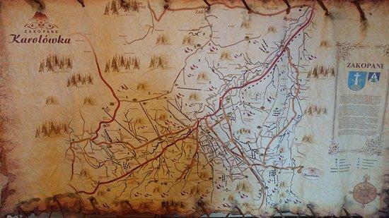Karolowka Hotel: Mountain map