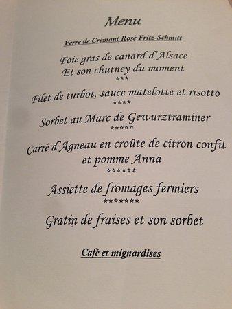 Hotel Restaurant L'Ami Fritz: 5-Gänge Menü