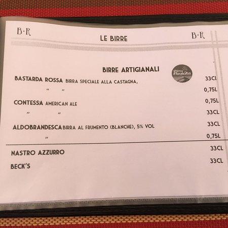 Arcidosso, Itália: Menù - Osteria Bastarda Rossa