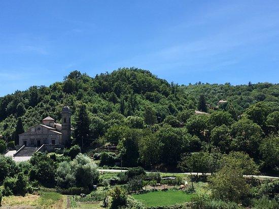 Arcidosso, Itália: Panorama dalla terrazza - Osteria Bastarda Rossa
