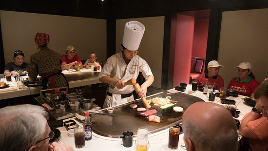 Chef Preparing Food At Table Picture Of Teppan Edo Orlando - Teppan table