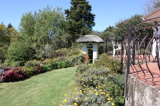 Hogsback, South Africa: the garden in front of the house