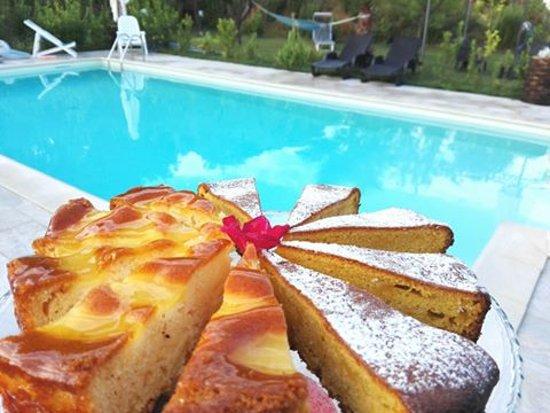 Acquaviva Picena, Italien: La piscina con una nostra buonissima torta