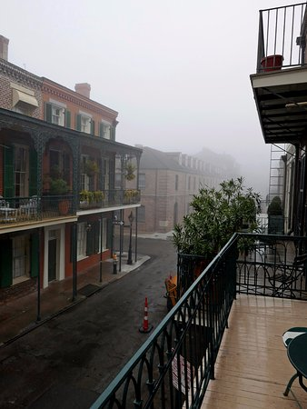 Soniat House: Chartres St. in the fog