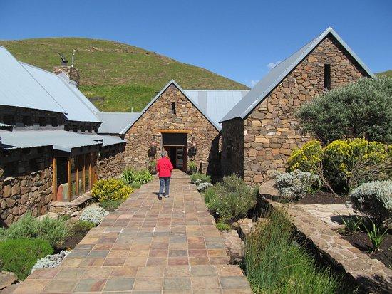 Rhodes, Sudáfrica: Tenehead Mountain Lodgeentrance