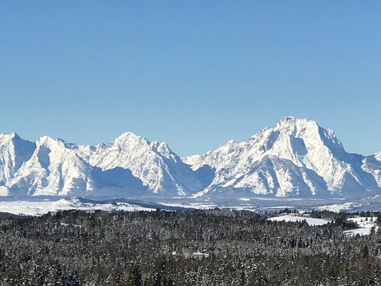Dubois, WY: A phenomenal view of the Tetons on our trip.......spectacular!!!!