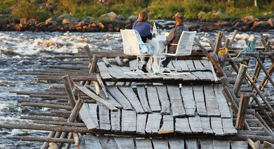 Haparanda, Svezia: Dinner on the river