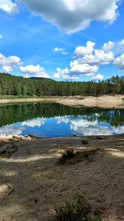 Ljusdal, Zweden: Vattenståndet i Gröntjärn kan variera med 13 meter