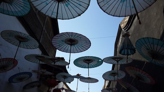 Fuzhou, China: 傘のオブジェ