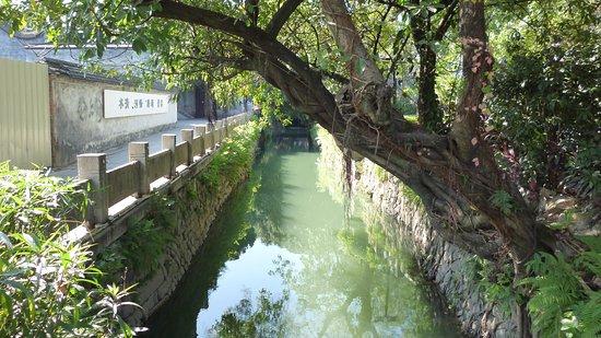 Fuzhou, China: 街を流れる運河