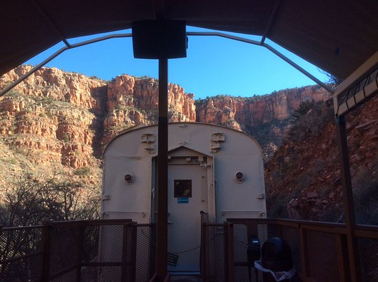 Verde Canyon Railroad: View from the outdoor car