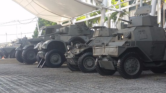 Port Dickson, Malaysia: An example of the vehicles on display