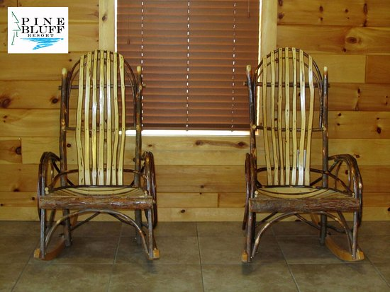 McMillan, MI: Enjoy a hot cup of coffee while sitting in these relaxing rockers.