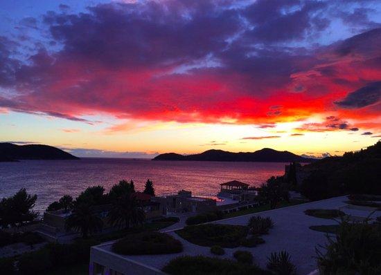 Orasac, كرواتيا: Sunset in Dubrovnik