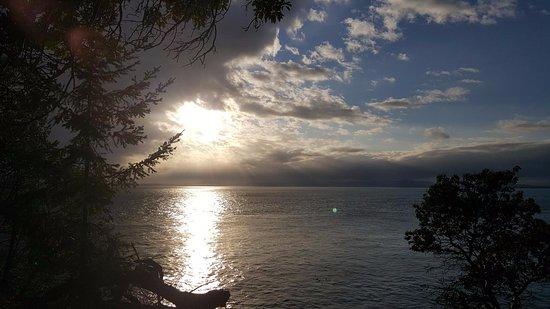 Friday Harbor, WA: coast, sun, clouds and trees