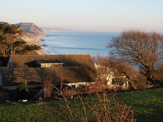 Charmouth, UK: Opposite view from garden