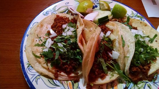 ‪‪Hyattsville‬, ‪Maryland‬: Three Chorizo Tacos, very good.‬