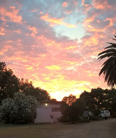 Addo, Sydafrika: Sunrise near the mens ablution block