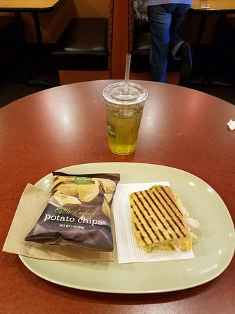 Panera Bread: Chipotle Chicken Avocado Melt Sandwich.