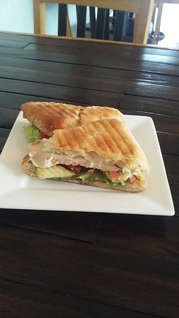 Geneseo, IL: Harvest Turkey Panini. Yummy!