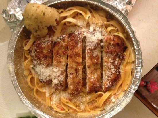Twinsburg, OH: Fettuccine with Blush sauce and chicken cutlet