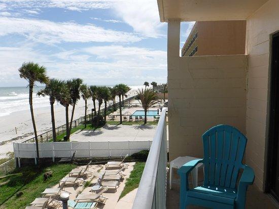 Makai Beach Lodge Balcony Looking South Daytona