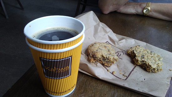 Kahwa Cafe: Excellent coffee - and the cookies are HUGE and VERY good.