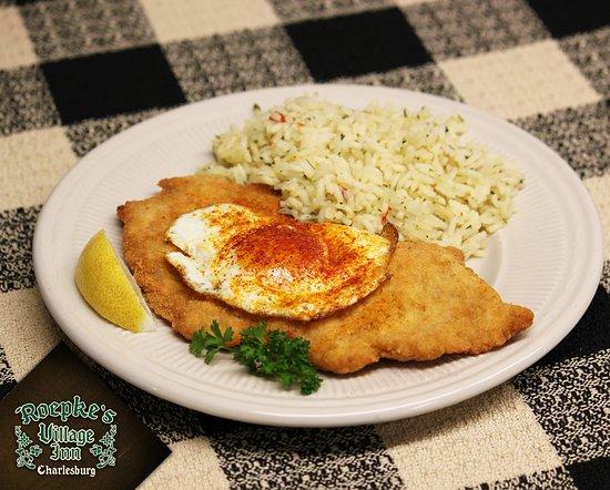 Chilton, WI: Old World Cuisine - Wiener Schnitzel a la Holstein
