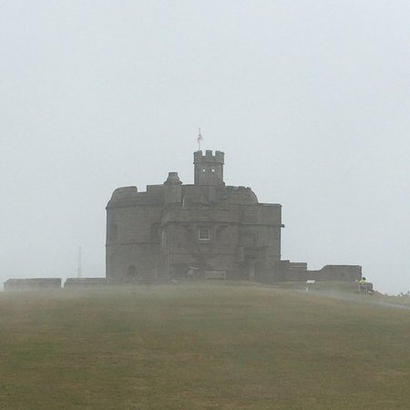 Falmouth, UK: Misty morning at Pendennis Castle