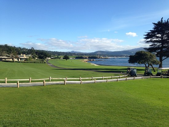 Pebble Beach, CA: View from the Patio of the restaurant.