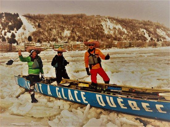 Quebec Ice Canoeing