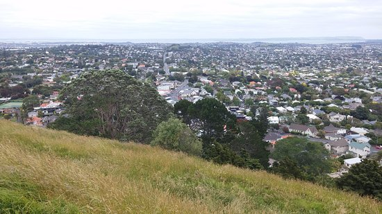 Mount Eden: 마운트 이든 정상에서 남쪽으로 바라본 풍경