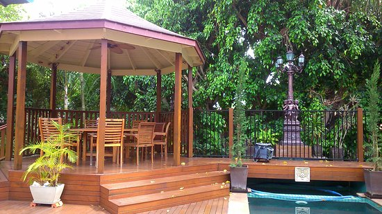 Franklin Villa: pool and gazebo