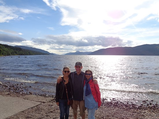 The Hebridean Explorer: family photo at Loch Ness at the end of our whisky tour, an excellent day, many thanks John !!