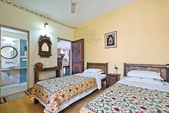 Chhoti Haveli: Begum room with King size bed. Also can be arranged as two twin beds as shown.