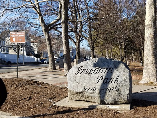 Quincy, MA: Freedom Park entrance marker