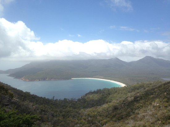 Coles Bay, Australia: well worth the climb to see this view