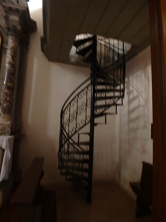 Monastery And Church Of St. Clare: Circular Stairs To 2nd Floor