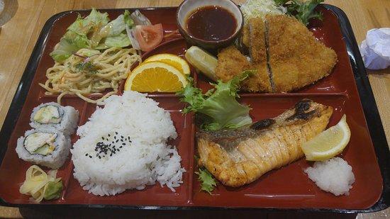 Tukwila, Etat de Washington : Salmon Shio & Pork Tonkatsu Bento