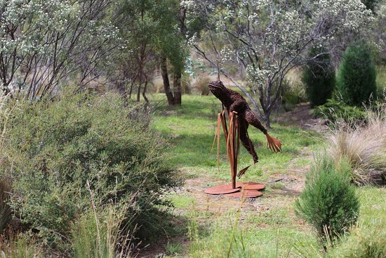 Buckland, Australia: Interesting sculpture in the 'gardens' part of the site