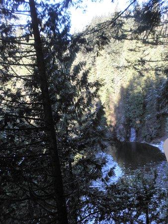 ノース バンクーバー, カナダ, クリフウォークから見える滝