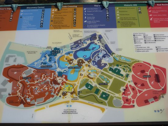 St Louis Zoo Map Well Set Out Zoo Map   Picture of St. Louis Zoo, Saint Louis  St Louis Zoo Map